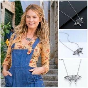 👑💗MAMMA MIA's💝🌷Butterfly Silver tone Necklace